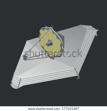 James Webb Space Telescope - stock vector