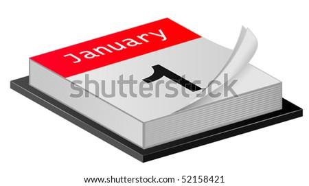 January Calender - stock vector