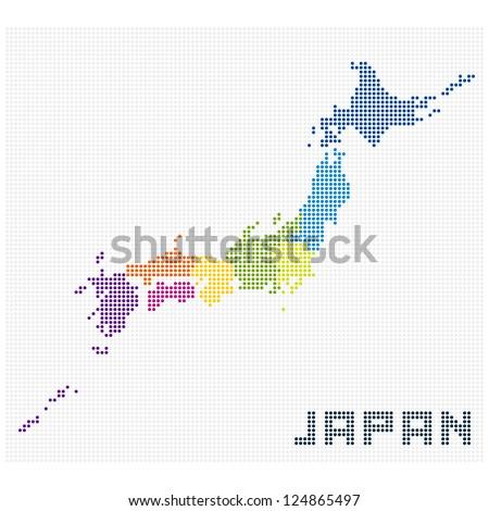 Japan map background , vector - stock vector