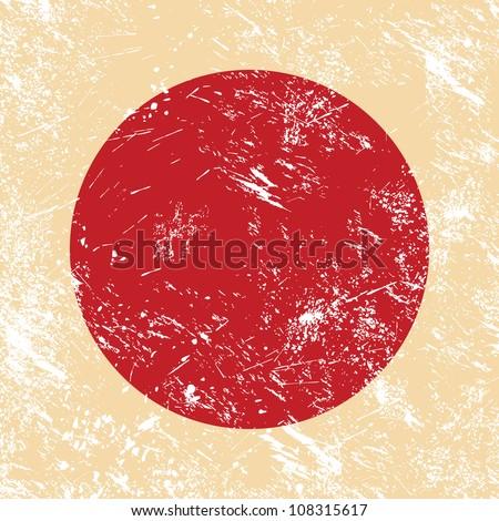Japan retro flag - stock vector