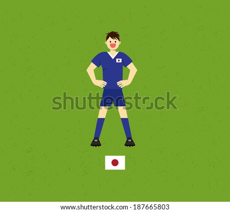 Japan Soccer Tables  - stock vector