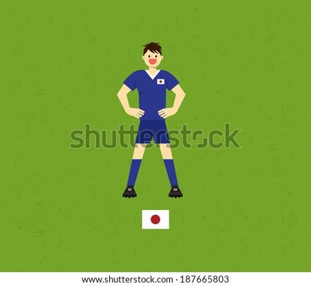 Japan Soccer Tables  - stock vector
