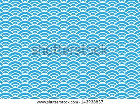 japan wave pattern - stock vector