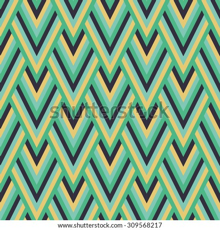 japan wave pattern.Geometric stylish background. Vector repeating texture - stock vector