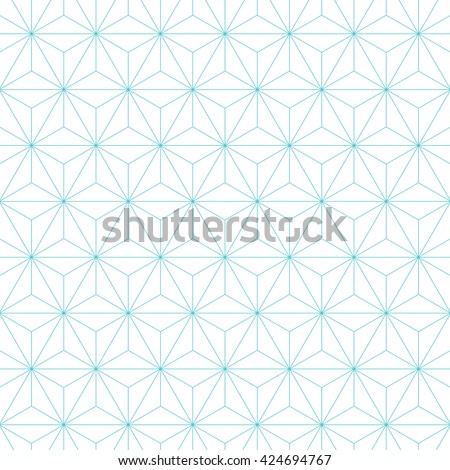 Japanese asanoha pattern background. Vintage retro vector design element. - stock vector