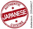 japanese cuisine stamp - stock vector
