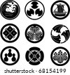 Japanese Family Crests (vector) - stock vector