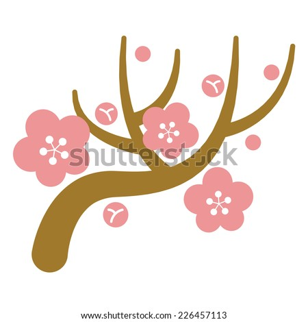 Japanese plum - stock vector