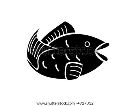 Japanese style carp - stock vector