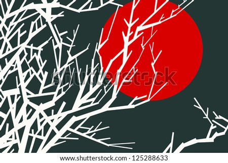 japanese theme illustration - stock vector