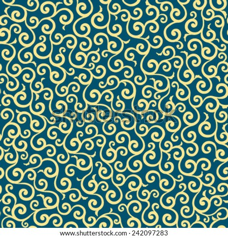 Japanese traditional pattern - karakusa - stock vector