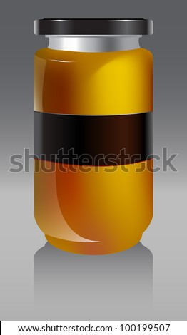 jar with honey vector illustration - stock vector
