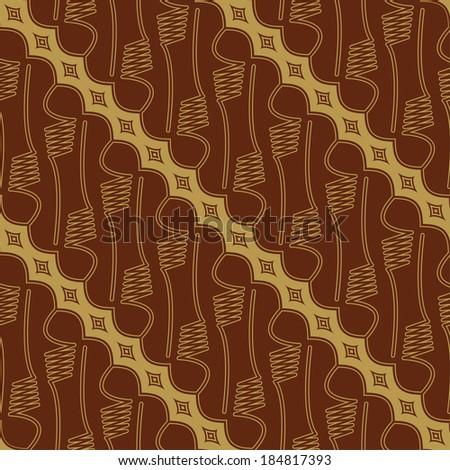 Javanese Batik Seamless Pattern - Set E1 Parang - stock vector
