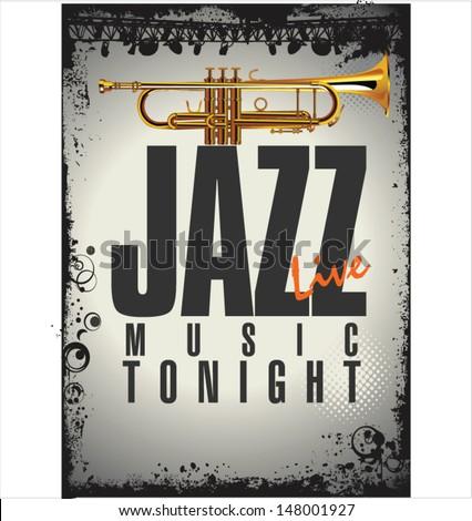 Jazz background  - stock vector