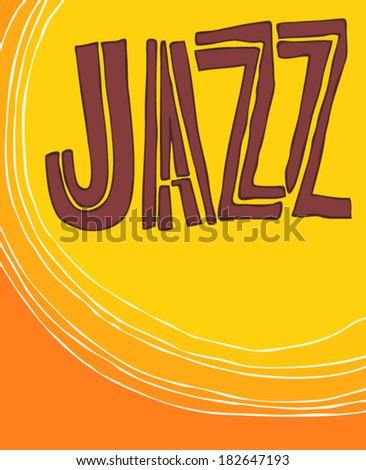 JAZZ concert, Music background - stock vector