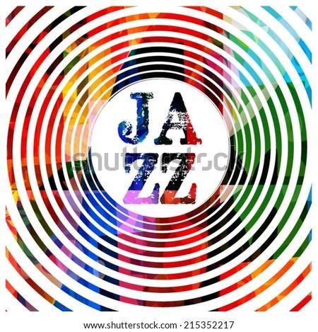 Jazz music background - stock vector