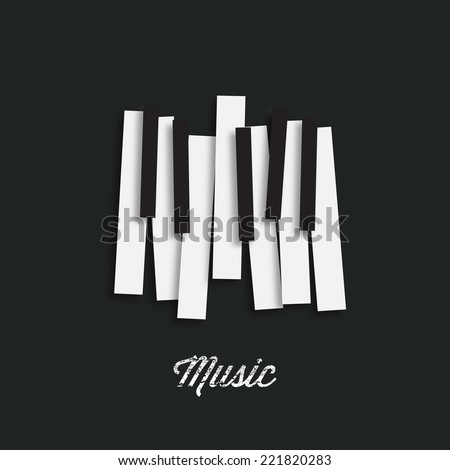Jazz music festival, poster background template. Music piano keyboard. Can be used as poster element or icon. Vector illustration. - stock vector