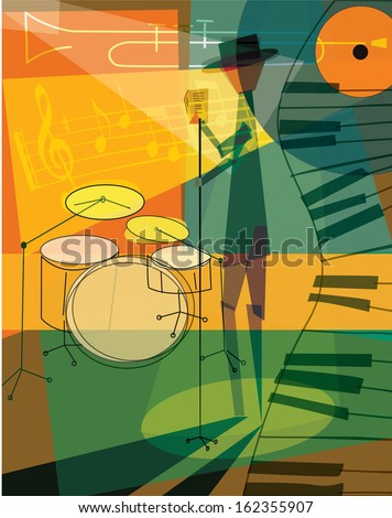 Jazz Poster Template  - suitable for posters, flyers, brochures, banners, badges, wallpapers, web design, advertising, publicity and more  - stock vector