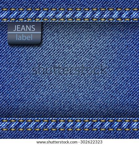 Jeans background. Vector - stock vector