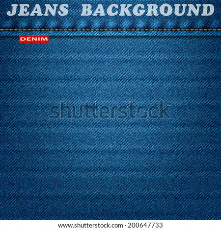 jeans texture blue material denim background. vector illustration eps10 - stock vector