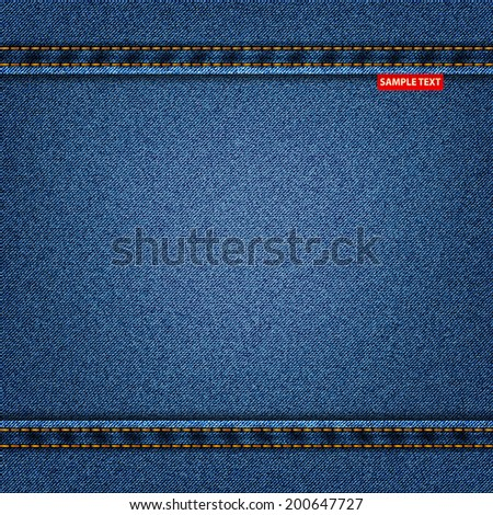 jeans texture fabric denim background. vector illustration eps10 - stock vector