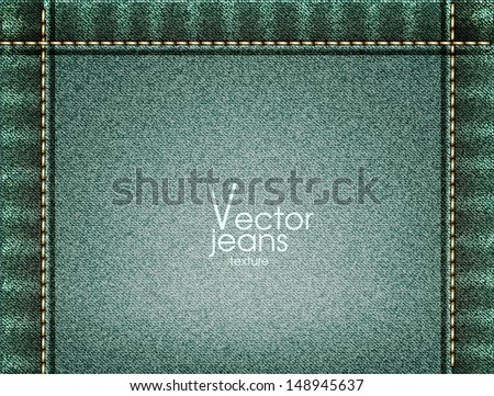 Jeans texture. Vector illustration  - stock vector