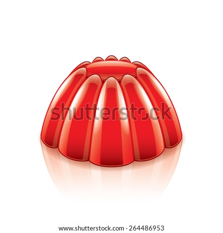 Jelly isolated on white photo-realistic vector illustration - stock vector
