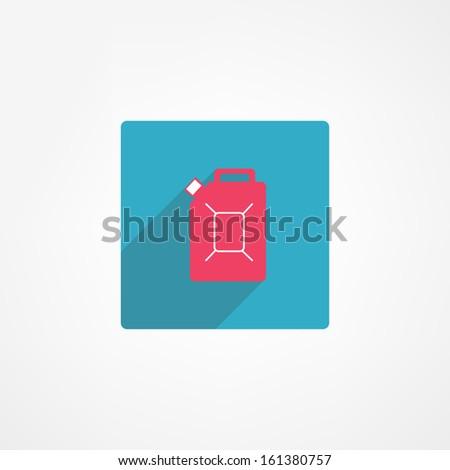 Jerrycan icon - stock vector