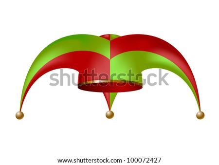 Jester hat - stock vector