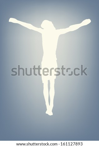 Jesus Christ crucified - stock vector