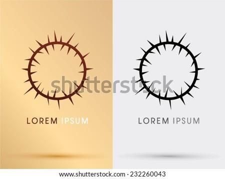 Jesus crown, Crown of thorns symbol, logo, Vector. - stock vector