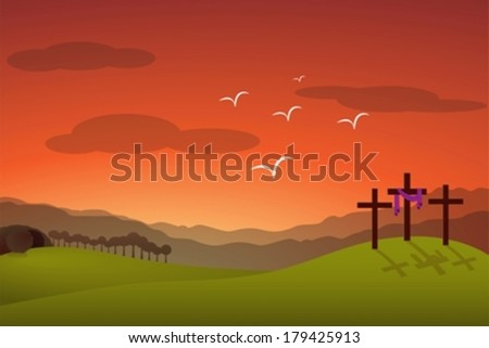 Jesus resurrection eps10 - stock vector