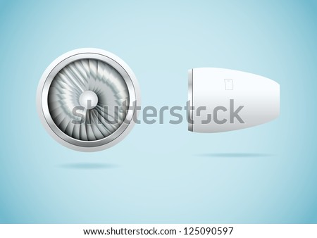 Jet engine. Vector illustration - stock vector