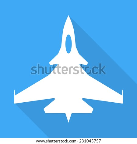 Jet fighter aircraft sign - stock vector
