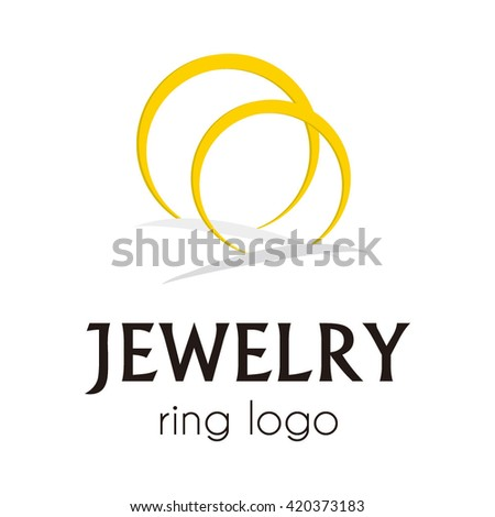 Jewelry beauty circle flower gold abstract vector logo design template beautiful company identity icon business store symbol concept - stock vector