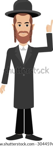 jewish man - stock vector