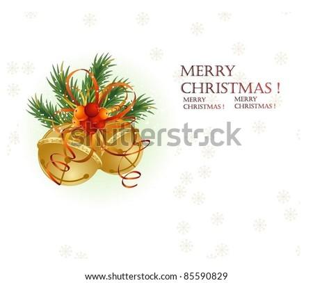 jingle bells background - stock vector