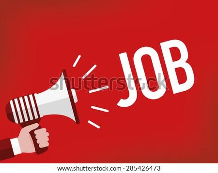 Job - stock vector