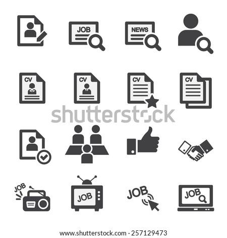 job icon set - stock vector