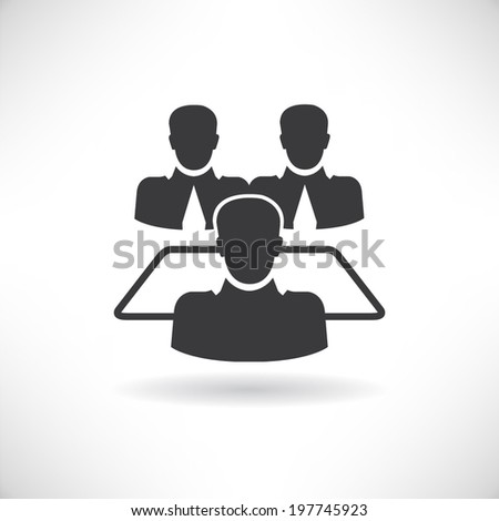 job interview, business discussion, business consulting - stock vector