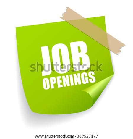 Job openings sticker - stock vector