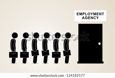 job search - stock vector