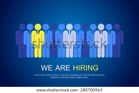 Job search and career choice employment concept with human icons. - stock vector