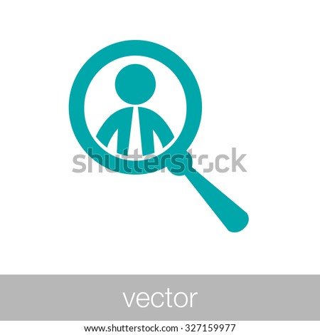 Job search and career choice icon. searching candidate icon. concept flat style design illustration icon - Human figure icon - stock vector