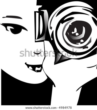 job series -photographer - stock vector