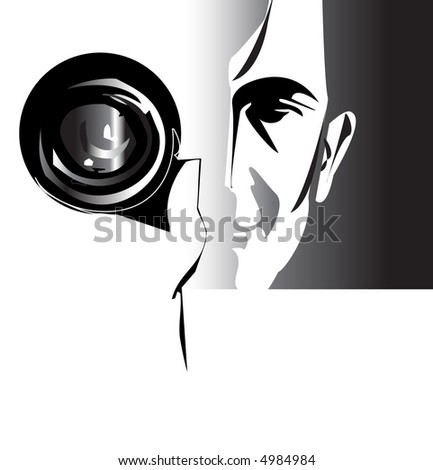 job series - photographer - stock vector