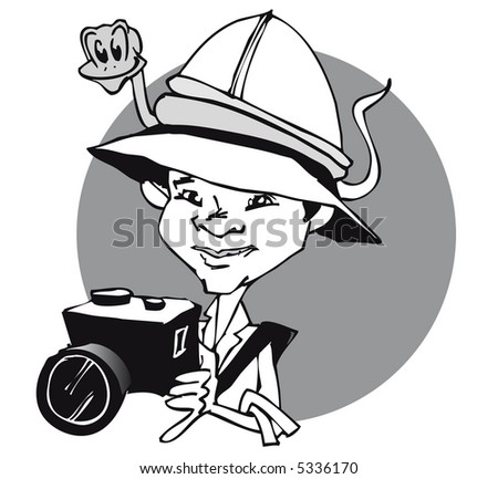job series / photographer - stock vector