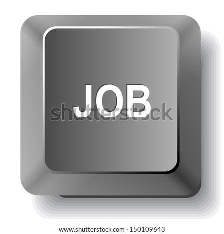 Job. Vector computer key. - stock vector