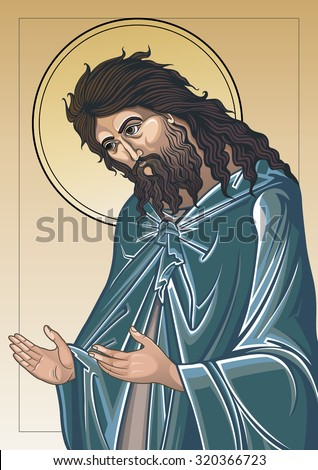 John the Baptist color - stock vector