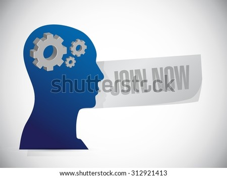 Join Now thinking sign concept illustration design graphic - stock vector